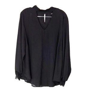 Torrid black sheer blouse size 2